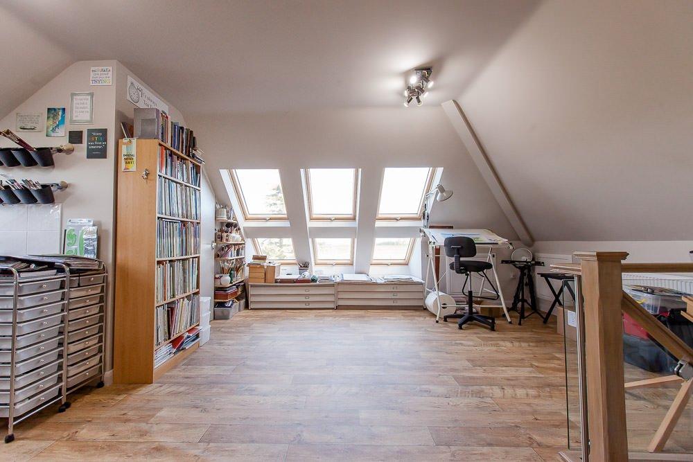 studio loft conversion crafts room