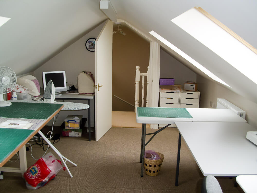 truss loft conversion into craft and hobby room