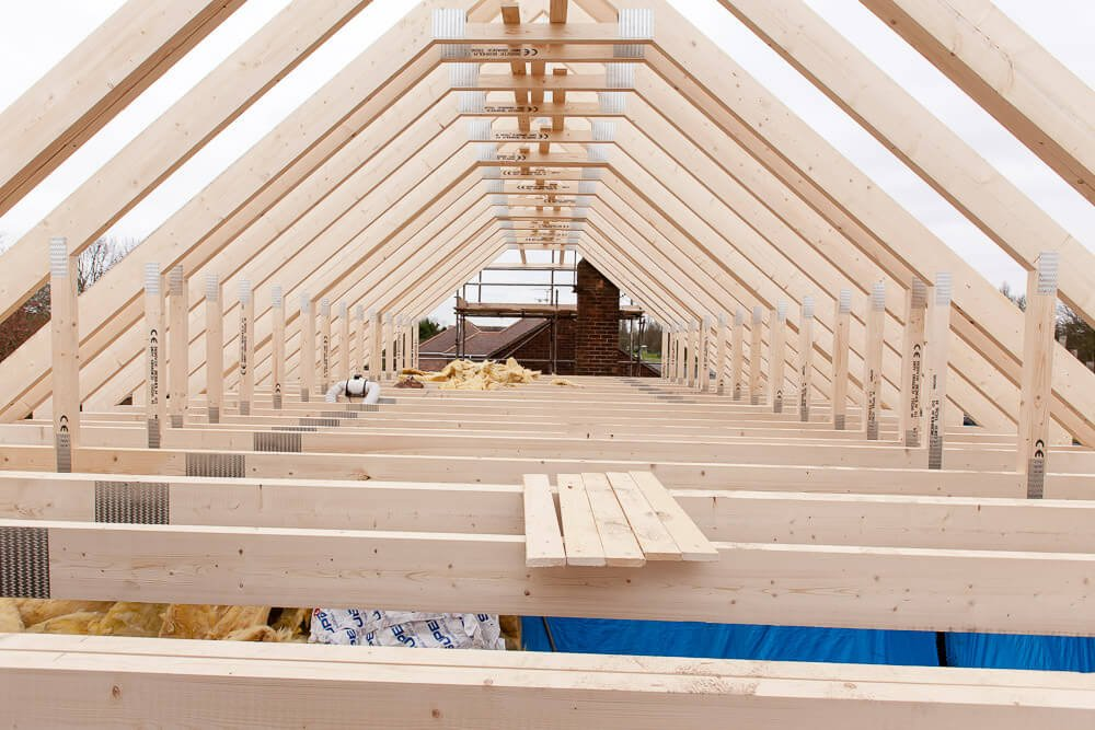 roof lift beams outside structure