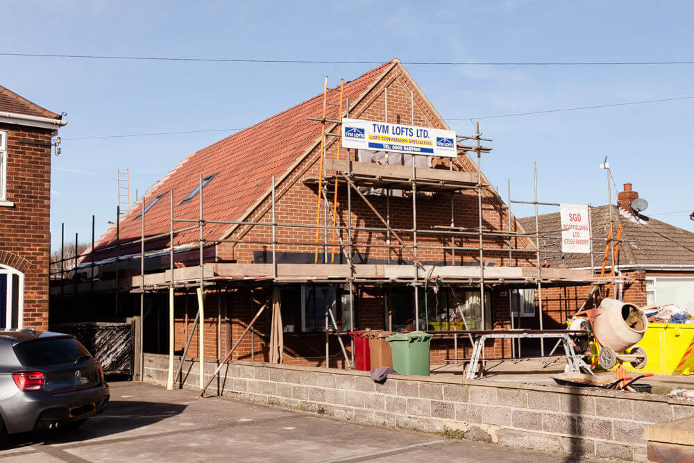 roof lift complete with tiles